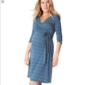 c6c9464145138 Seraphine Dresses | Blue Geo Print Maternity Nursing Dress | Poshmark